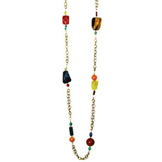 Michal Golan Necklace - Durango Long Chunky Chain