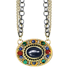 Michal Golan Necklace - Durango Oval Triple Chain