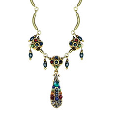 Michal Golan Necklace - Durango 3 Stop Tear Dangles