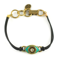 Evil Eye Bracelet From Michal Golan - Green, Medium Eye