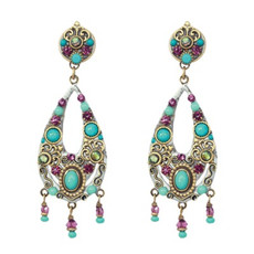 Michal Golan Earrings - Turkish Bazzar 2 Part Oval 3 Drops