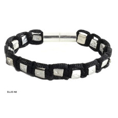 Anat Jewelry Ella Bracelet - Black Sterling
