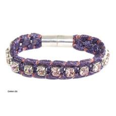 Anat Jewelry Bracelet - Purple Sterling
