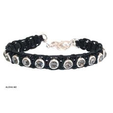 Anat Jewelry Bracelet - Black Woven Leather