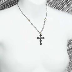 Michal Golan Confetti Cross Long Chain Necklace