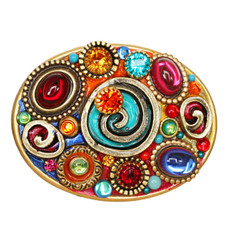 Michal Golan Confetti Oval Brooch