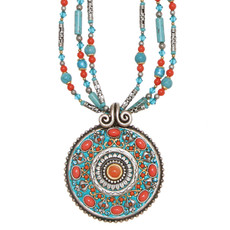 Necklace By Michal Golan Coral Sea