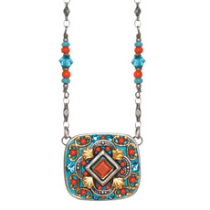 Michal Golan Coral Sea Square Beaded Chain Necklace