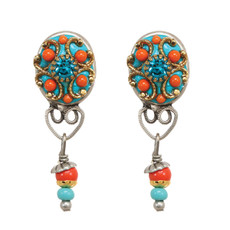Michal Golan Oval With Drop Clip Earring