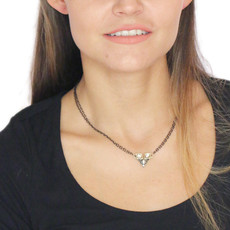 Michal Golan Freshwater Pearl And Crystal Chains Necklace