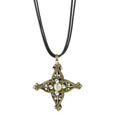 Michal Golan Deco Cross Pendant Necklace