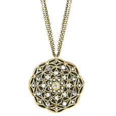 Michal Golan Floral Pendant Deco Necklace
