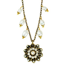 Michal Golan Jewelry Floral Deco Necklace