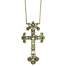 Michal Golan Deco Large Cross Pendant