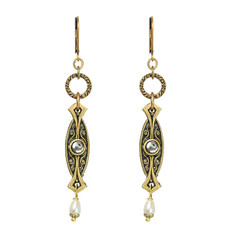 Michal Golan Israeli Deco Earrings