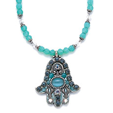 Michal Golan Green Cat Eye Hamsa