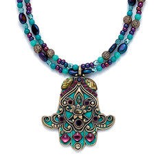 Evil Eye Purple Hamsa