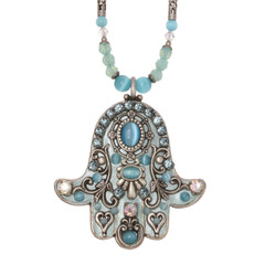 Michal Golan Aqua Cats Necklace