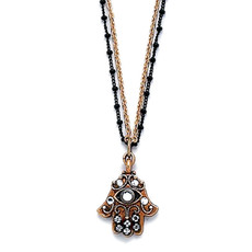 Michal Golan Gold And Black Hamsa