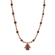 Michal Golan Small Garnet Chip Hamsa