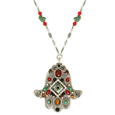 Evil Eye Hamsa Necklace - N3089