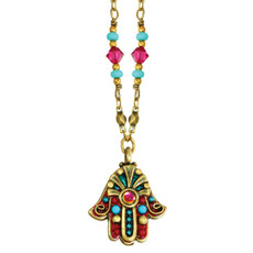 Michal Golan Fucia Evil Eye Hamsa Necklace