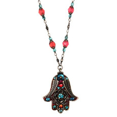 Michal Golan Necklace Evil Eye Hamsa