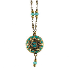 Michal Golangreen Chain And Bead Necklace