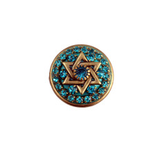 Teal Crystal Star Of David