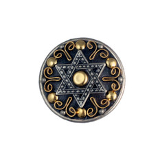 Golan Silver And Gold Star Of David