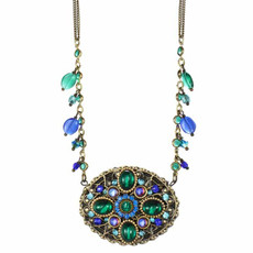 Michal Golan Jewelry Necklace Peacock