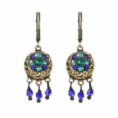 Lovely Michal Golan Peacock Earrings