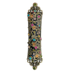 Colored Crystals Mezuzah