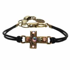 Michal Golan Pink Cross Bracelet