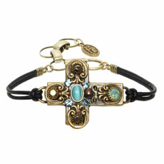 Michal Golan Blue Cross Bracelet