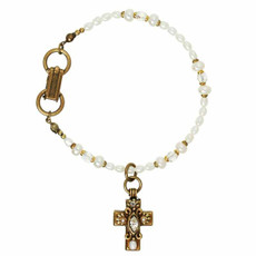 Michal Golan White Cross Bracelet