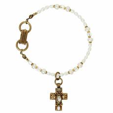 Michal Golan White Cross Bracelet