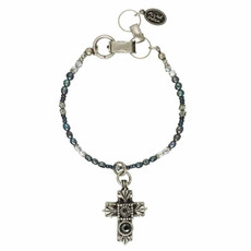 Michal Golan Black Cross Bracelet