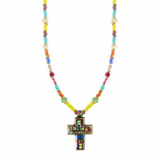 Michal Golan Small Multicolor Cross Necklace