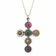 Large Crystal Cross Necklace