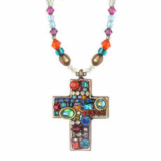 Medium Multibright Cross Necklace