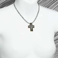 Medium Multibright Cross Necklace