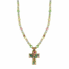Michal Golan Single Flower Cross Necklace