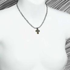 Michal Golan Single Flower Cross Necklace