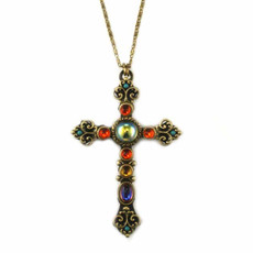 Large Kaleidoscope Glass Cross