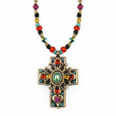 Medium Kaleidoscope Glass Cross