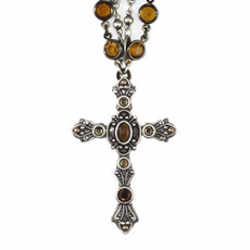 Michal Golan Metallic Cross Necklace