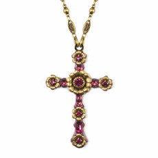 Pink And Gold Cross Necklace