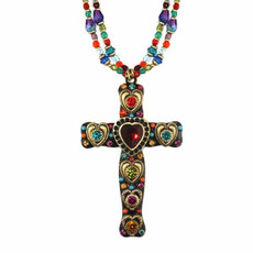Large Multibright Cross Necklace By Michal Golan