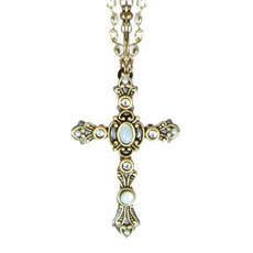 Double Chain Large Mother Of Perals Cross